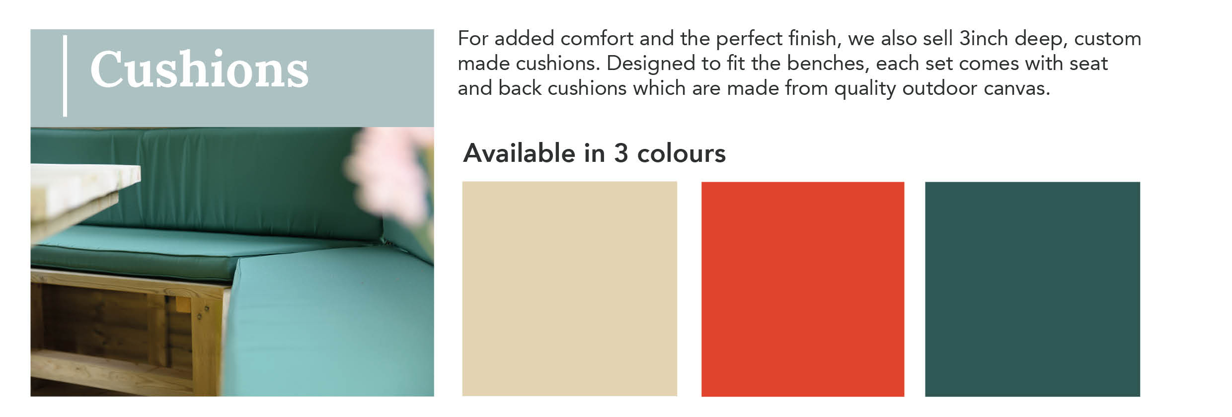 Gazebo Cushion Colours