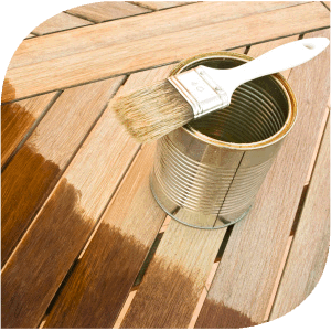 Protect decking with wood preserve