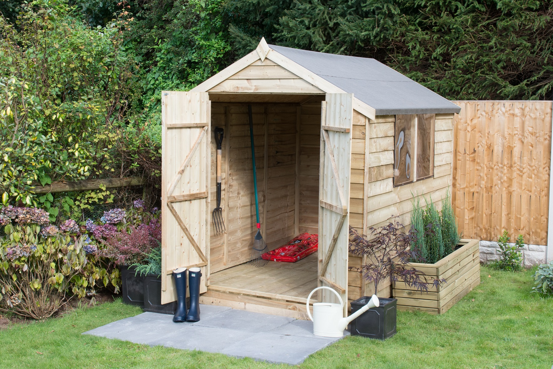 OPA68DDHD (1) 8x6 APEX SHED - DOUBLE DOOR SRP £319.99 copy