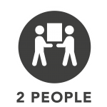 2 People Delivery Icon