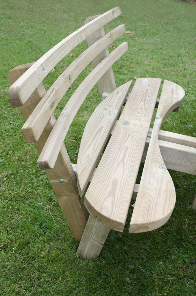 Circular Picnic Table With Seat Backs Forest Garden
