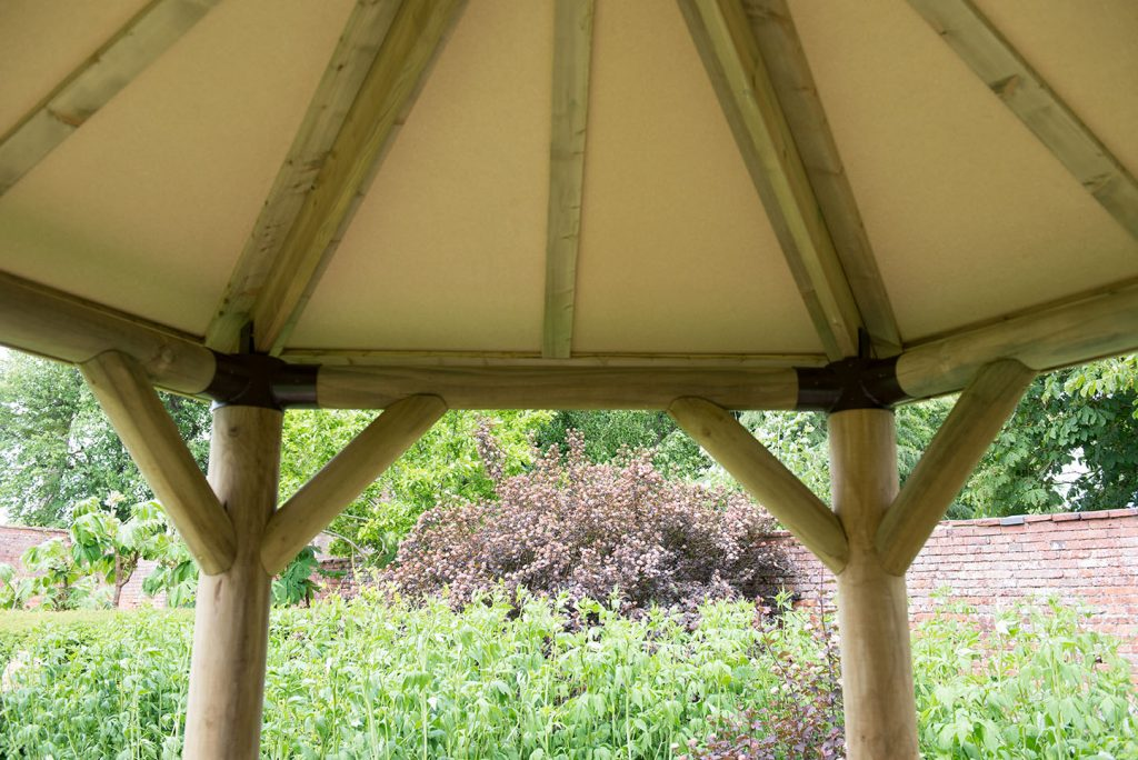3m Premium Hexagonal Wooden Garden Gazebo With Cedar Roof