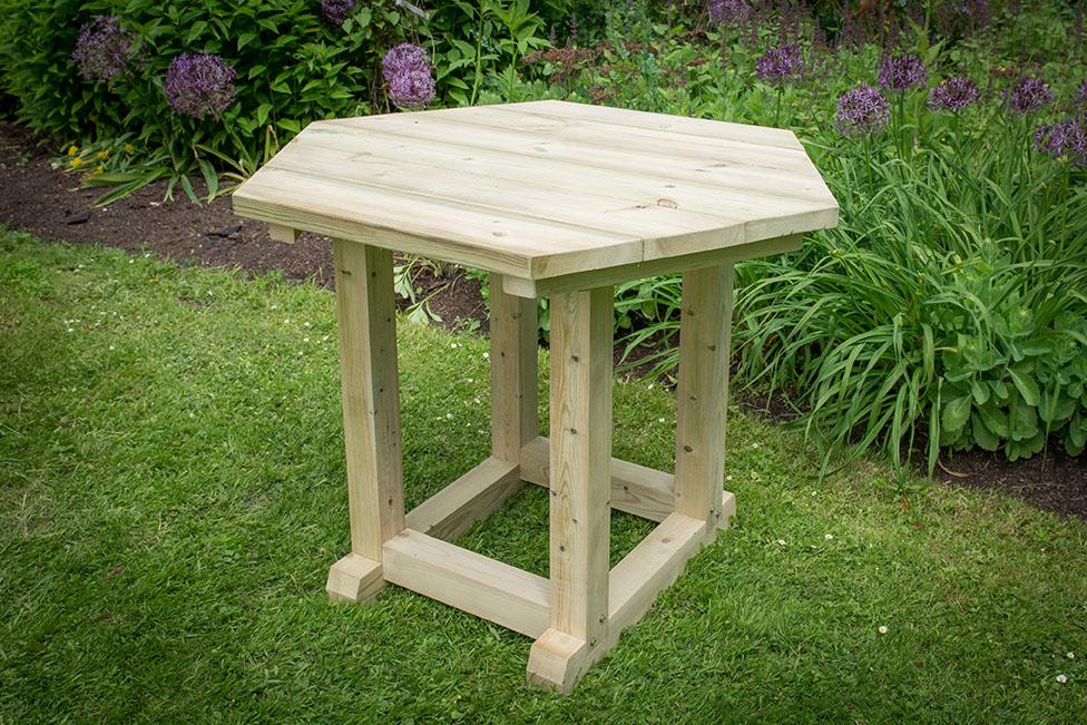 3m Premium Hexagonal Wooden Garden Gazebo With Timber Roof