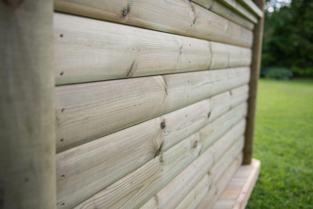 4m Premium Hexagonal Wooden Garden Gazebo With Timber Roof