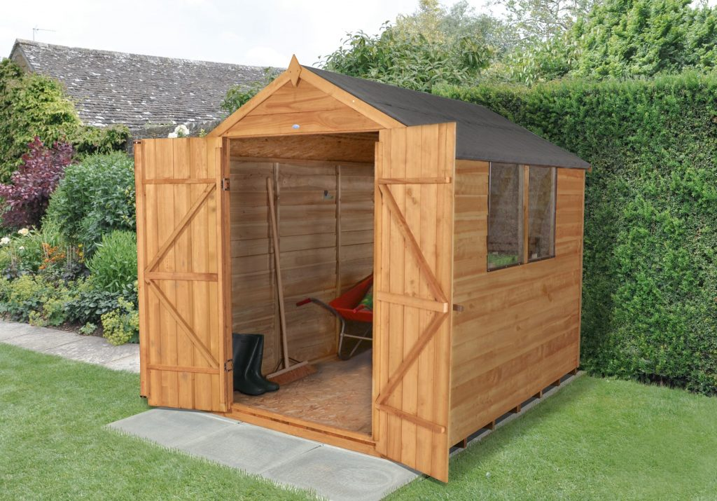 Fully Asssembled Shed With Doors Open