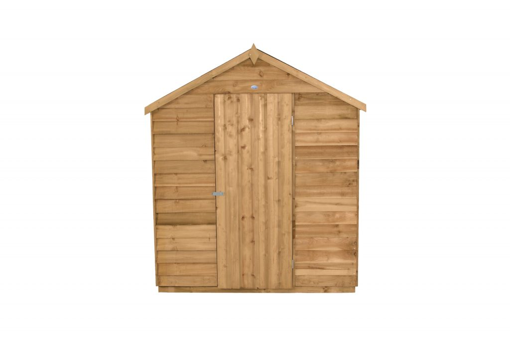 Overlap Dip Treated 8x6 Apex Shed No Window Forest Garden