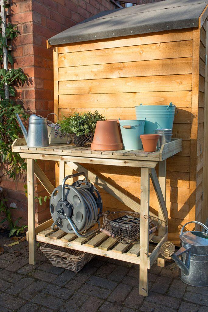 Potting Bench Forest Garden