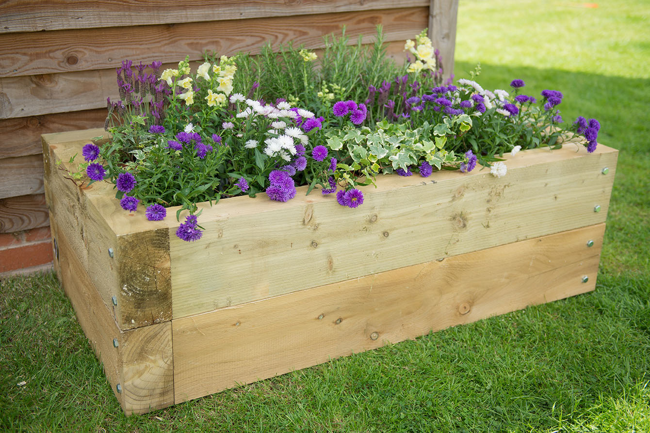 Sleeper Raised Bed | Forest Garden