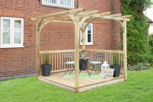 Fully Assembled Forest Garden Decking Kit