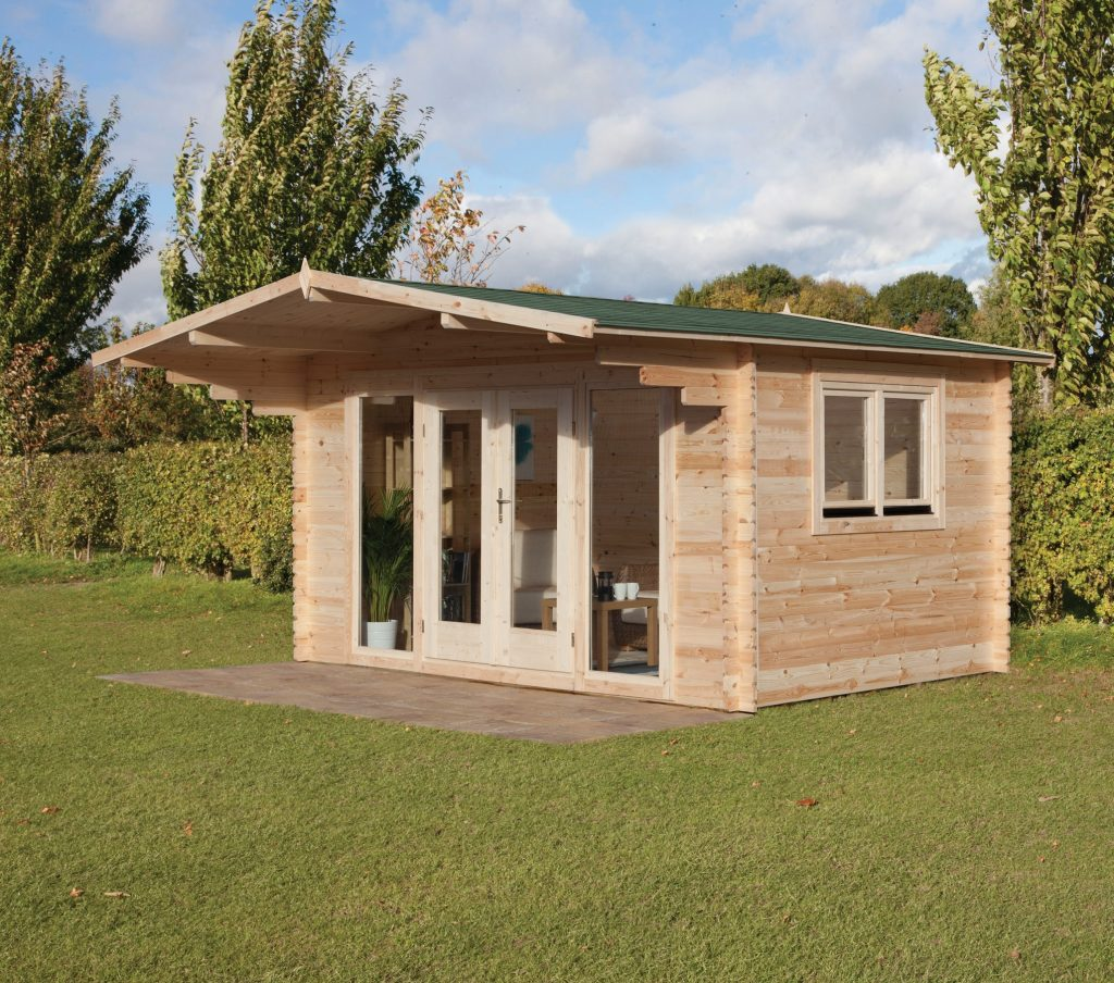 Fully Assembled Garden Log Cabin
