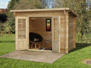 Furnished Garden Log Cabin