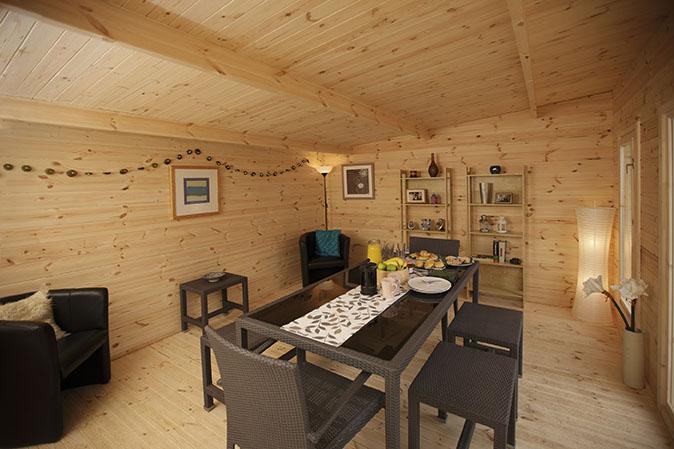 Mendip Log Cabin 5m X 4m Forest Garden
