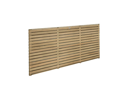 1 8m X 0 9m Pressure Treated Contemporary Double Slatted