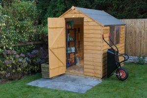 Forest Garden Dip Shed With Door Open