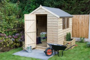 Forest Garden Pressure Treated Shed With Door Open