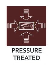 Pressure Treated Diagram Icon