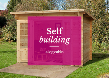 Log Cabin in Garden