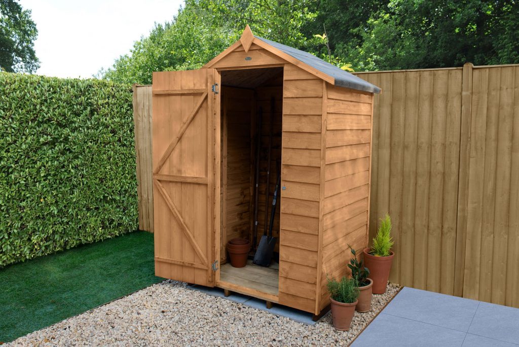 Forest Garden Overlap Dip Treated 4×3 Apex Shed. RRP.£304.49.