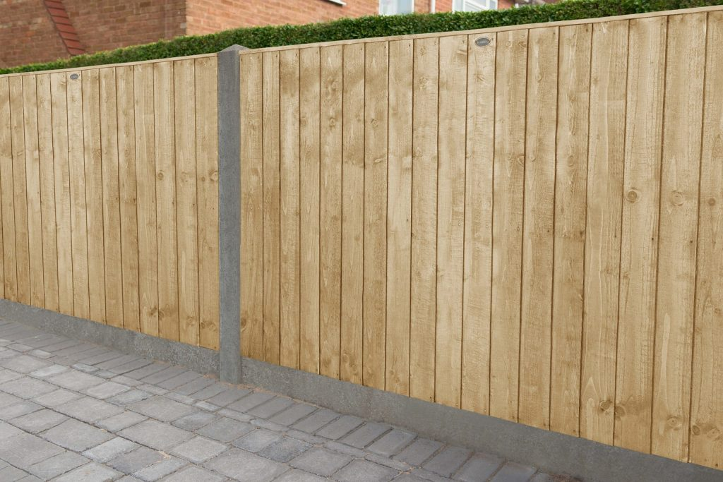 6ft X 4ft 1 83m X 1 23m Pressure Treated Featheredge Fence Panel Forest Garden