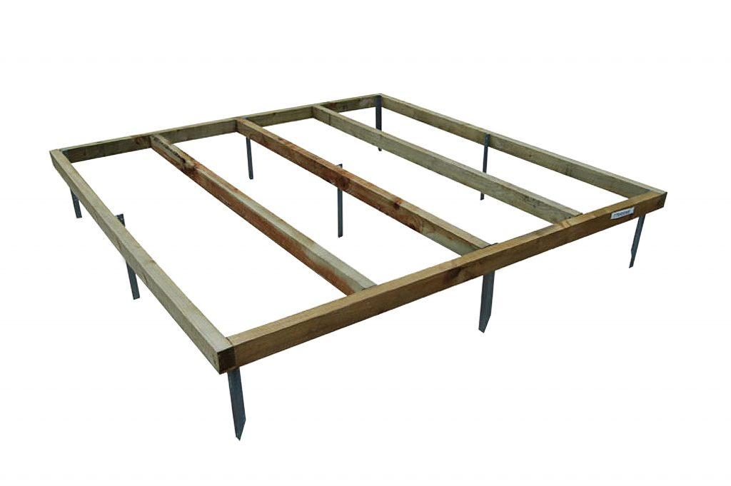 8 X 6 Shed Base With Metal Spikes For Forest Shiplap And