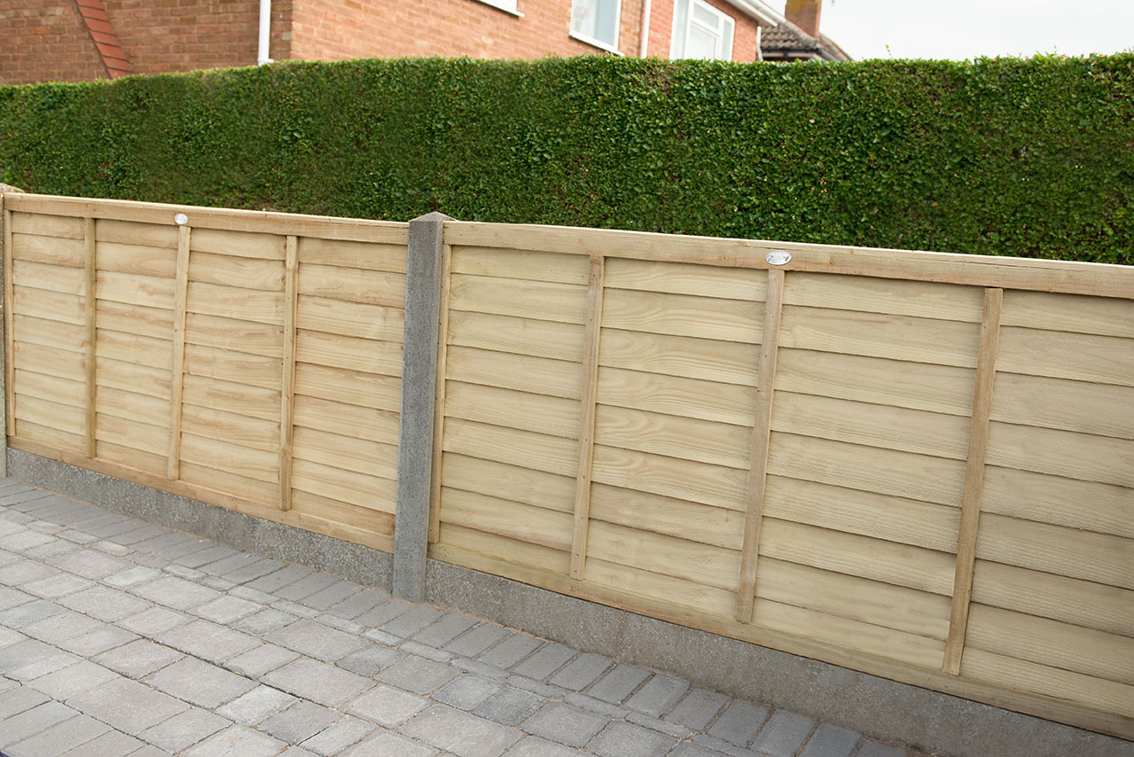 Lap Panel Fencing Overlap Treated 6x6//6x5//6x4//6x3 FAST DELIVERY