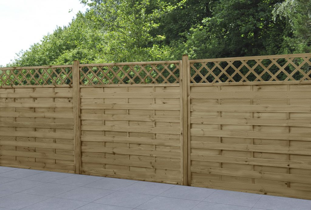 Picture of: 1 8m X 1 8m Pressure Treated Decorative Windermere Fence Panel Forest Garden